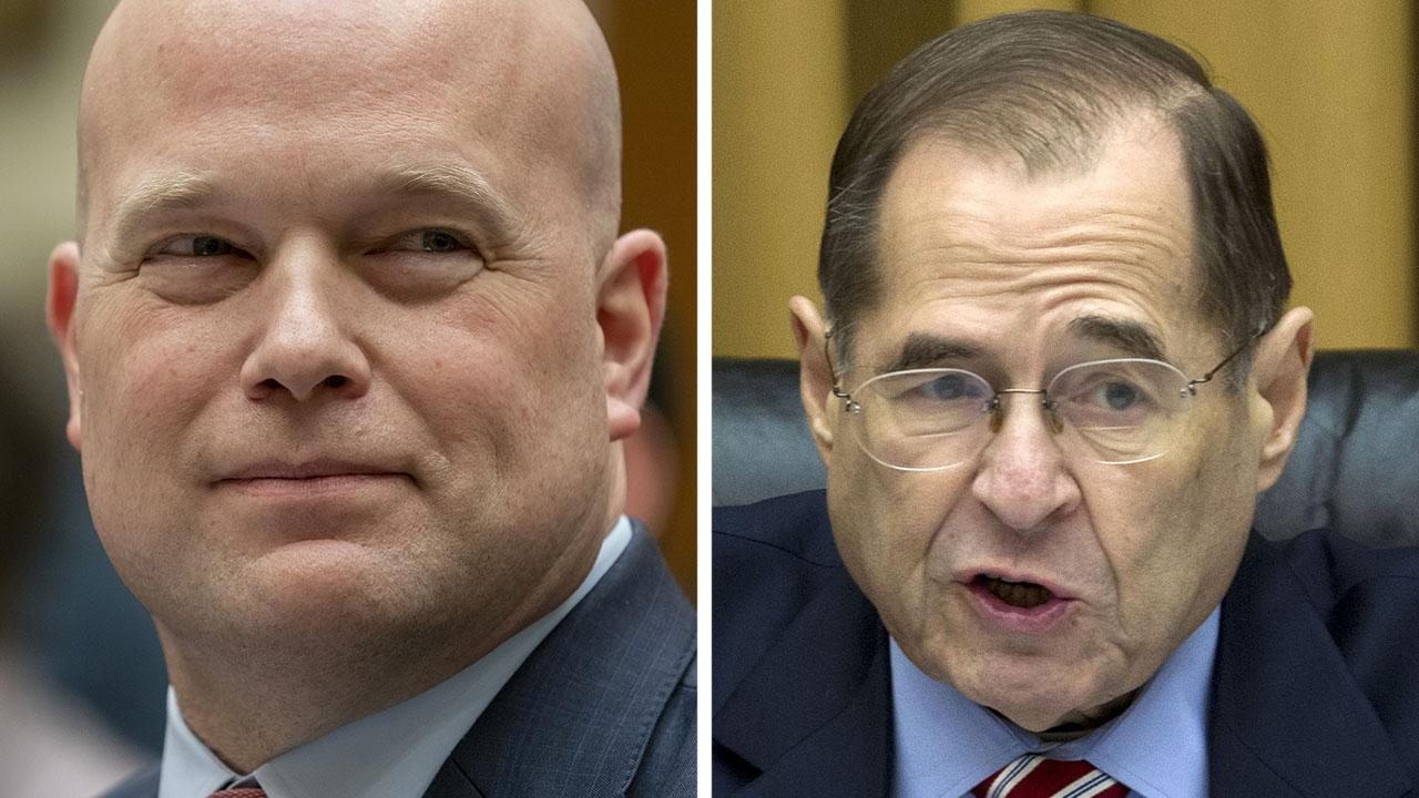 Acting Attorney General Whitaker draws gasps for telling Chairman Nadler that his 5 minutes are up