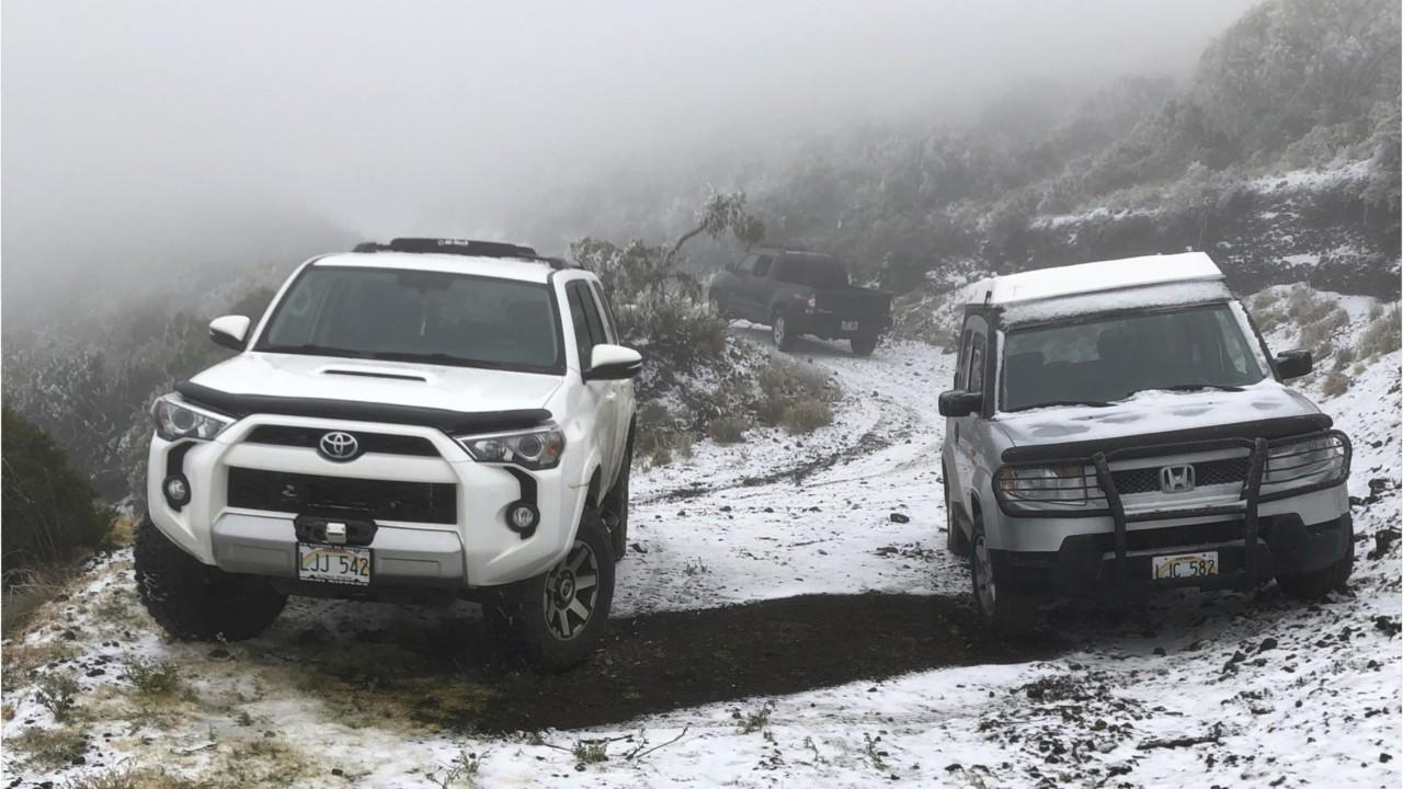 Hawaii sees snow from winter storm for first time in state park on Maui
