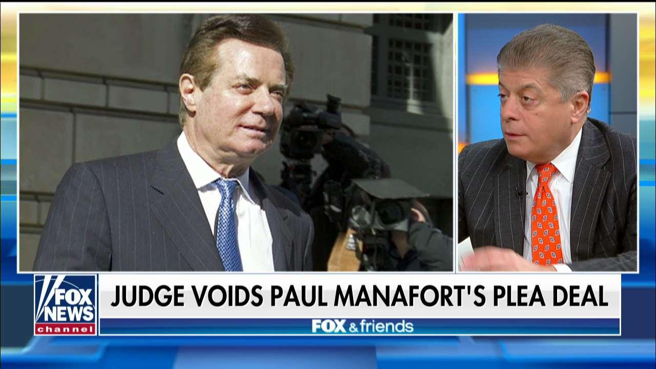 Judge Nap on Manafort's Voided Plea Deal: 'Mueller Is Still on the Hunt'