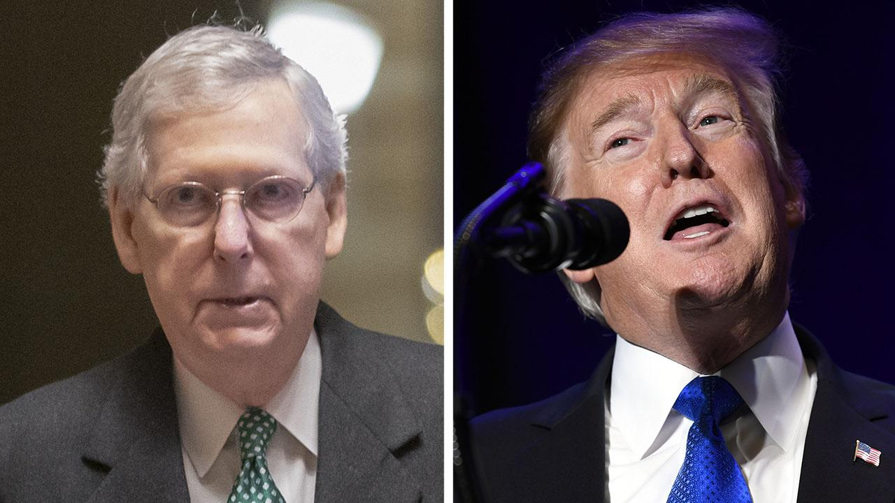 McConnell says Trump is prepared to sign compromise bill and will declare national emergency on border
