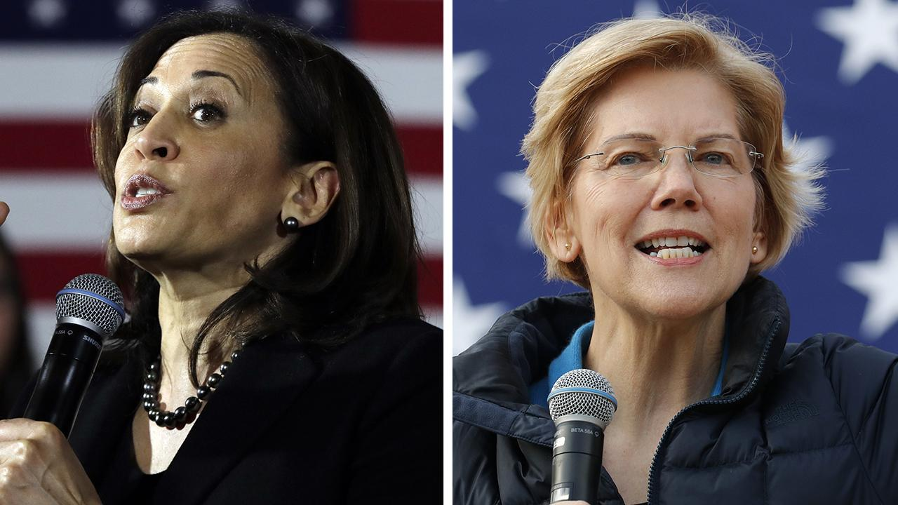 2020 Democratic presidential candidates Harris and Warren support reparations for African-Americans