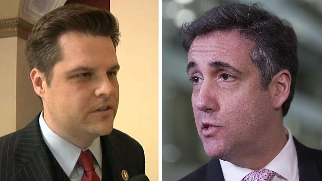 Rep. Gaetz says he was testing, not threatening Michael Cohen on Twitter