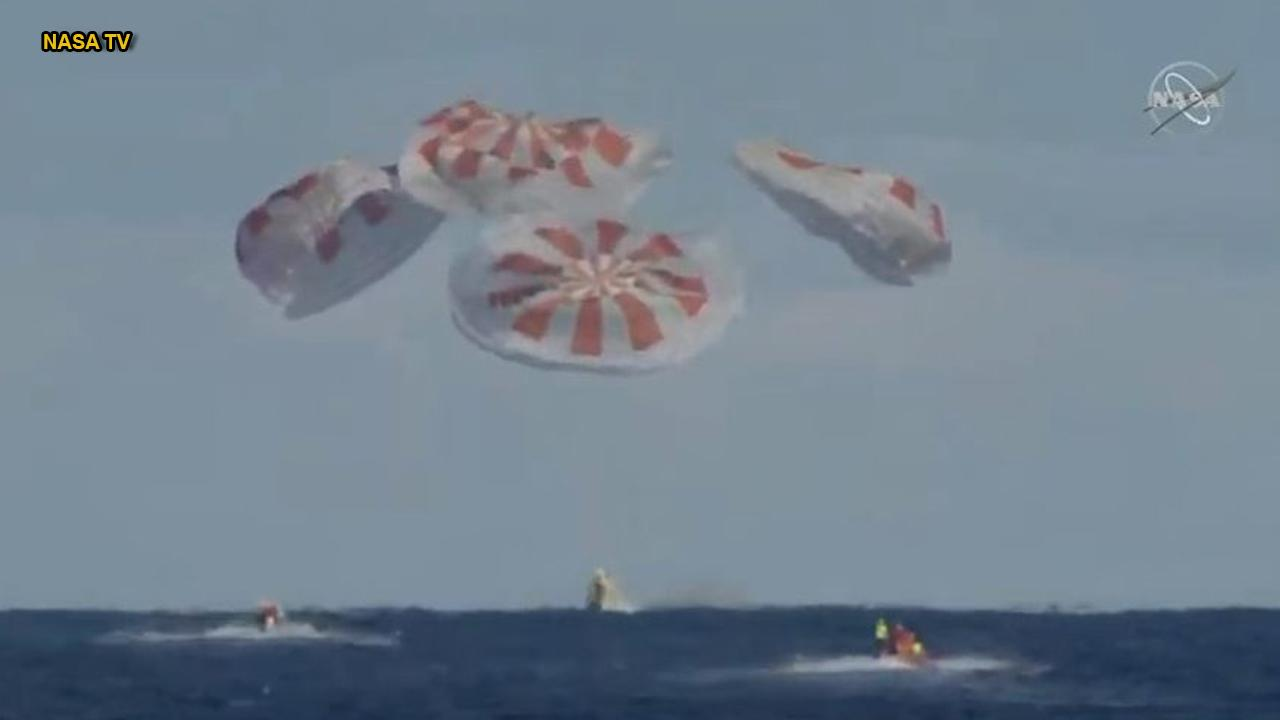 Splashdown! SpaceX's Crew Dragon capsule returns to Earth
