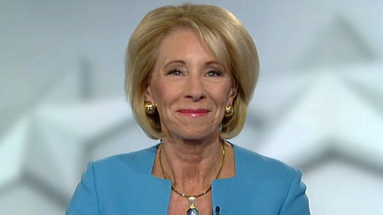 Betsy DeVos weighs in on a FBI investigation into wealthy parents who allegedly 'bought' college admission