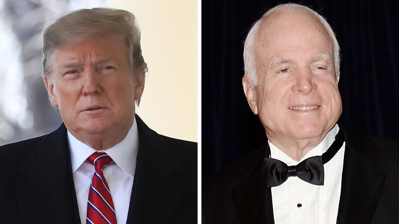 President Trump says he was never a fan of John McCain and never will be