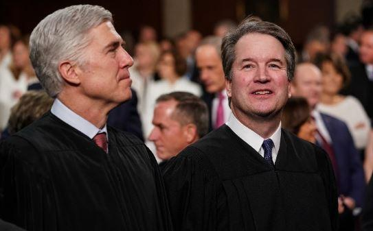 Neil Gorsuch and Brett Kavanaugh find themselves on opposing sides in two out of three recent rulings