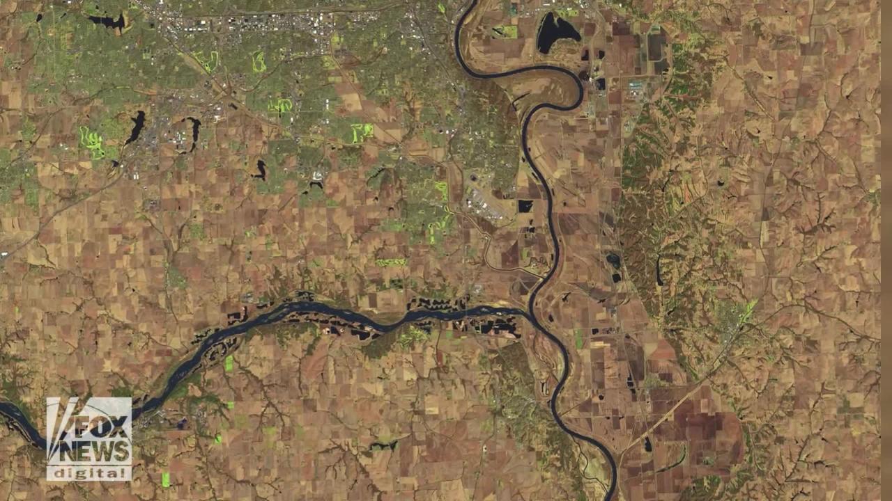 Stunning NASA images show historic Nebraska flooding