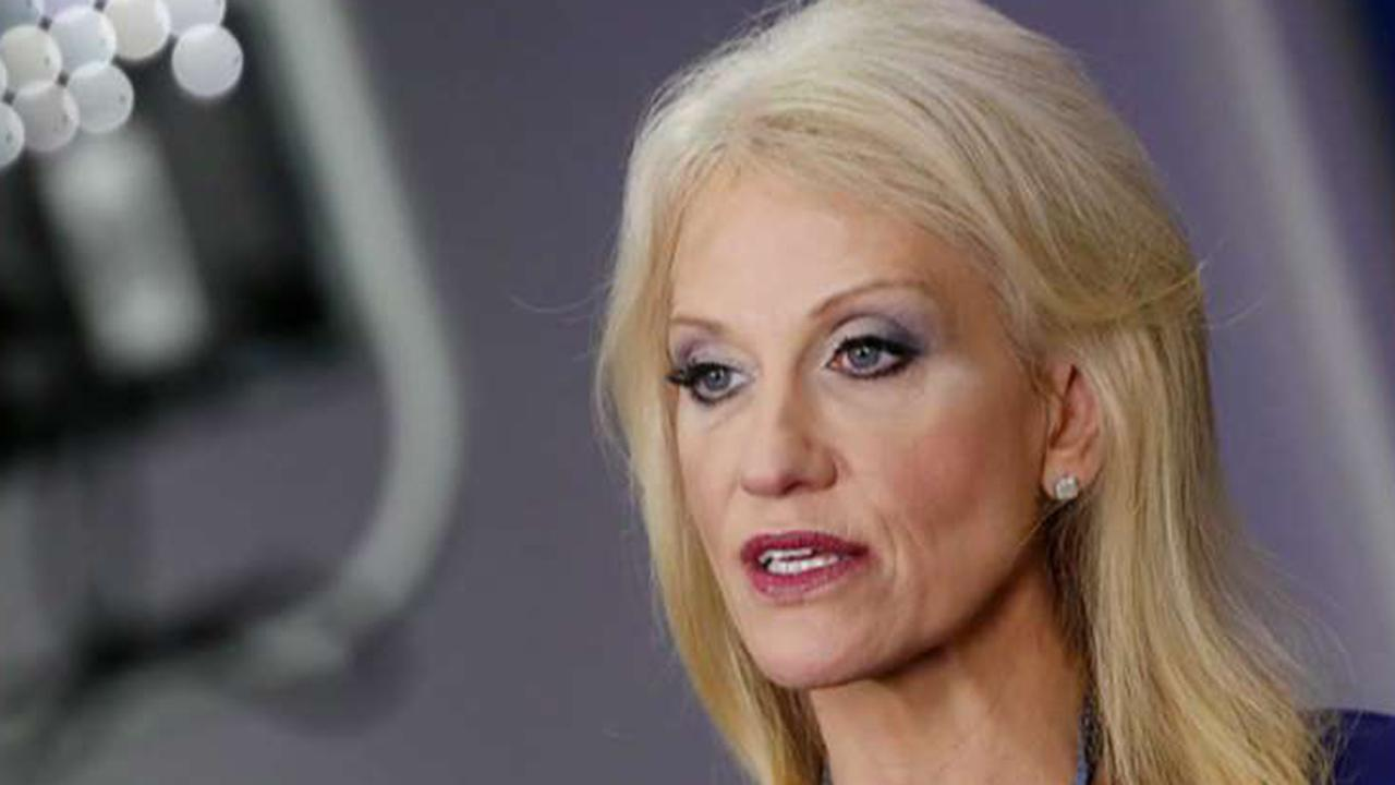Kellyanne Conway stays loyal to President Trump during his feud with her husband