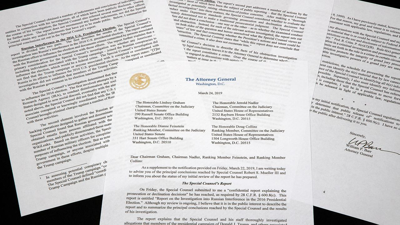 Will the full Mueller report be released to the public?