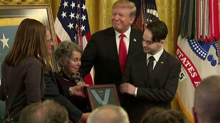 Trump awards posthumous Medal of Honor to Army Staff Sgt. Trevor Atkins thumbnail