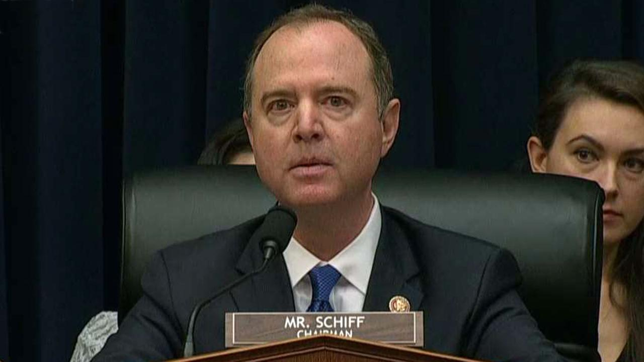 Republicans confront Schiff at House Intelligence Committee hearing with resignation demand