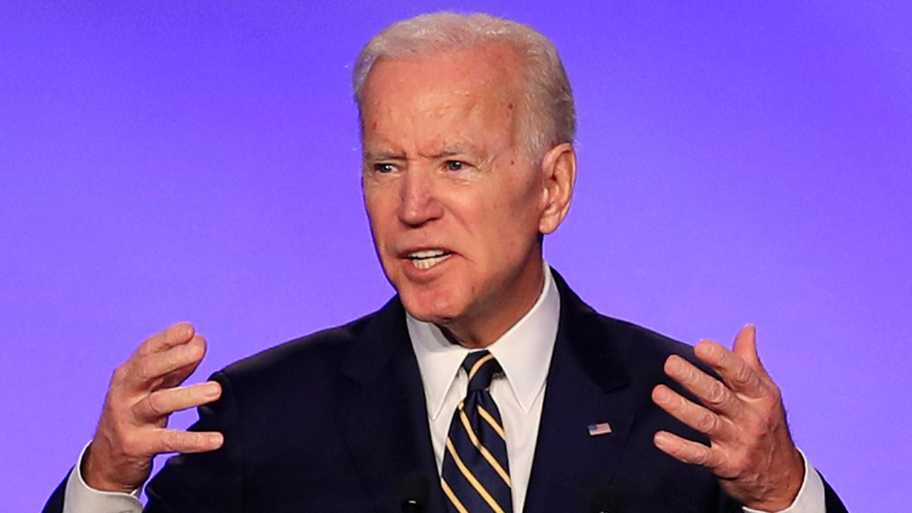 Joe Biden speaks to labor group in Washington