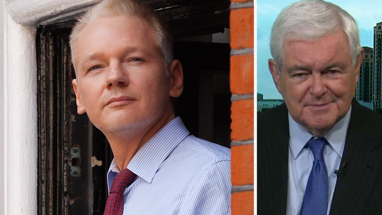 Gingrich on Assange arrest: Nobody has the right to leak secrets that endanger lives