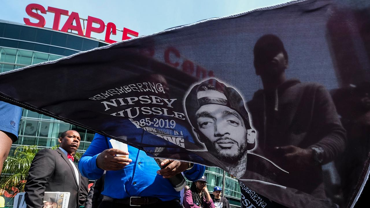 Thousands attend memorial service for Nipsey Hussle in Los Angeles