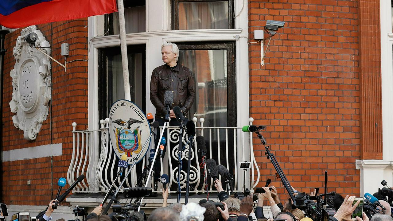 Assange used the embassy as 'center for spying,' whining Ecuadorian president says 694940094001_6025614813001_6025611282001-vs