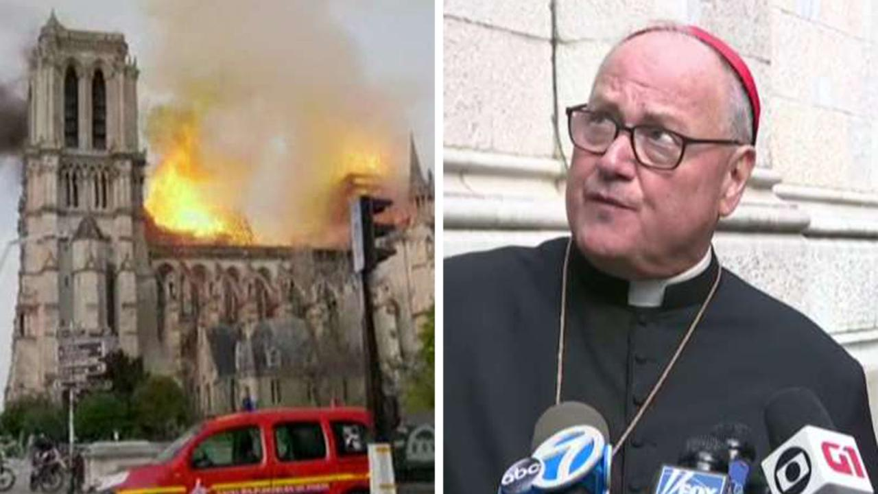 Cardinal Dolan: This is a moment of tears for Notre Dame
