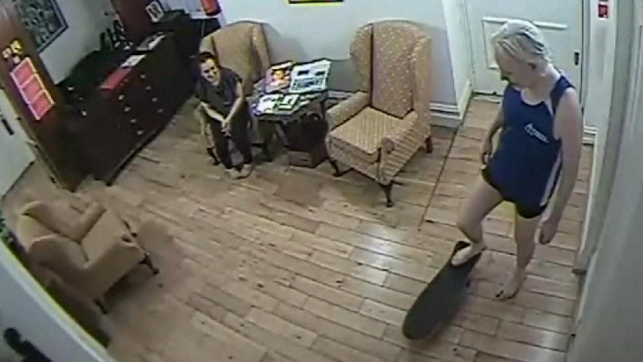 Security footage shows Julian Assange skateboarding inside Ecuadorian Embassy