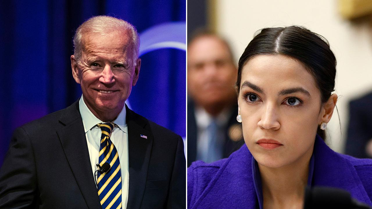 Alexandria Ocasio-Cortez says she isn't excited about a potential Biden presidential run