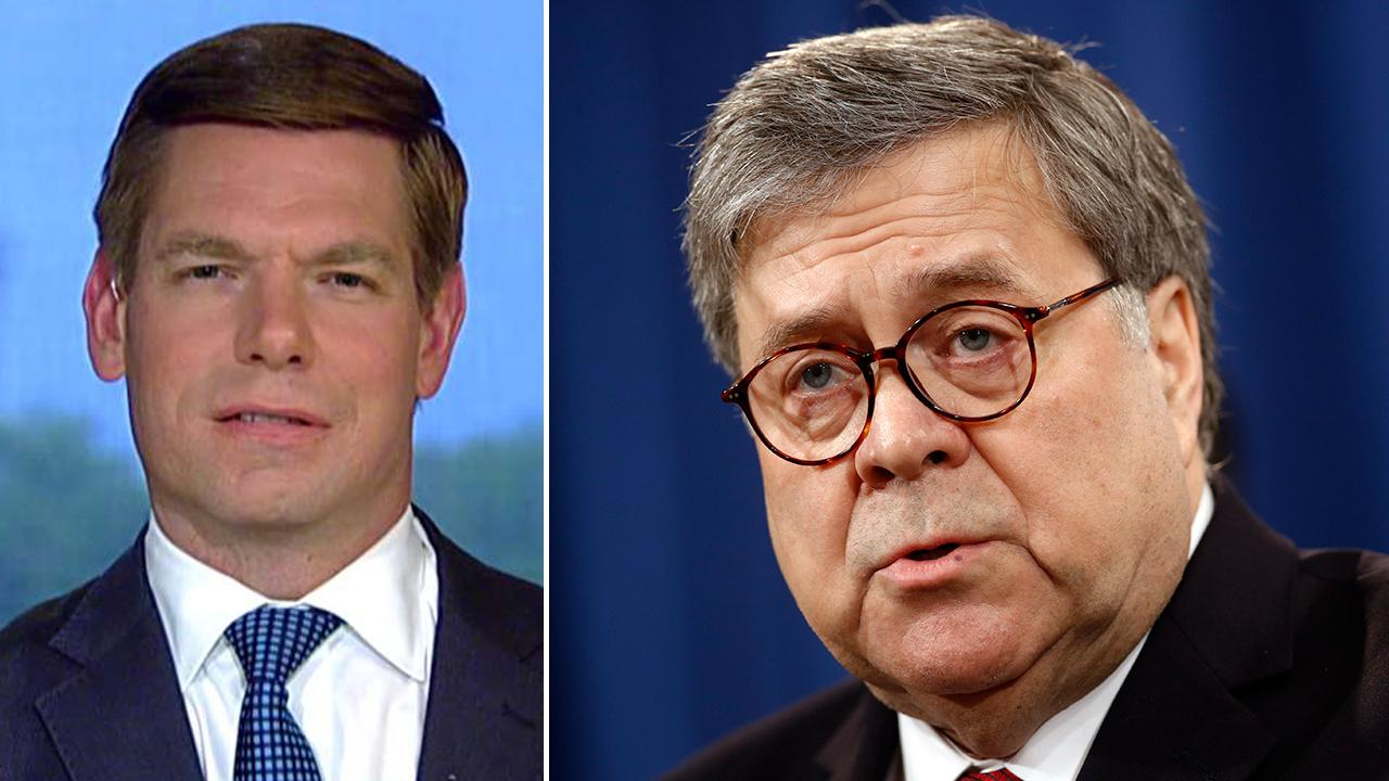 Rep. Eric Swalwell calls on Attorney General William Barr to resign