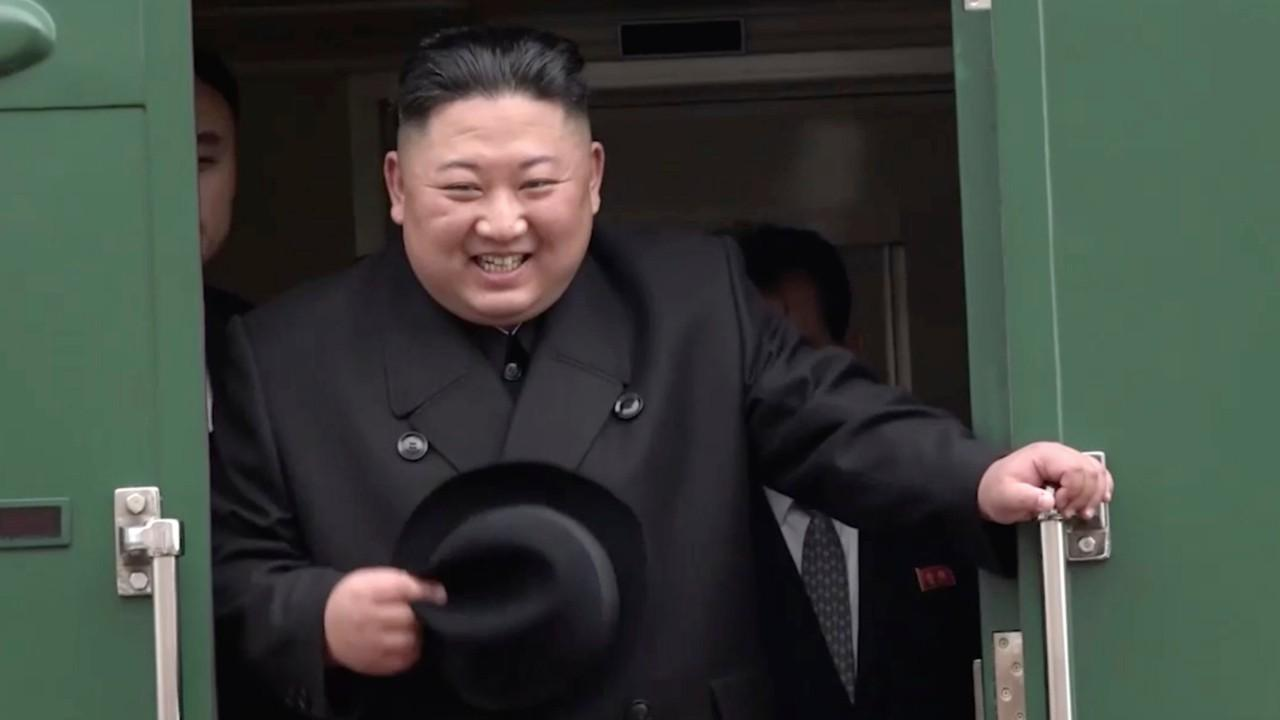 North Korean leader Kim Jong Un arrives in Russian port city ahead of first meeting with Putin
