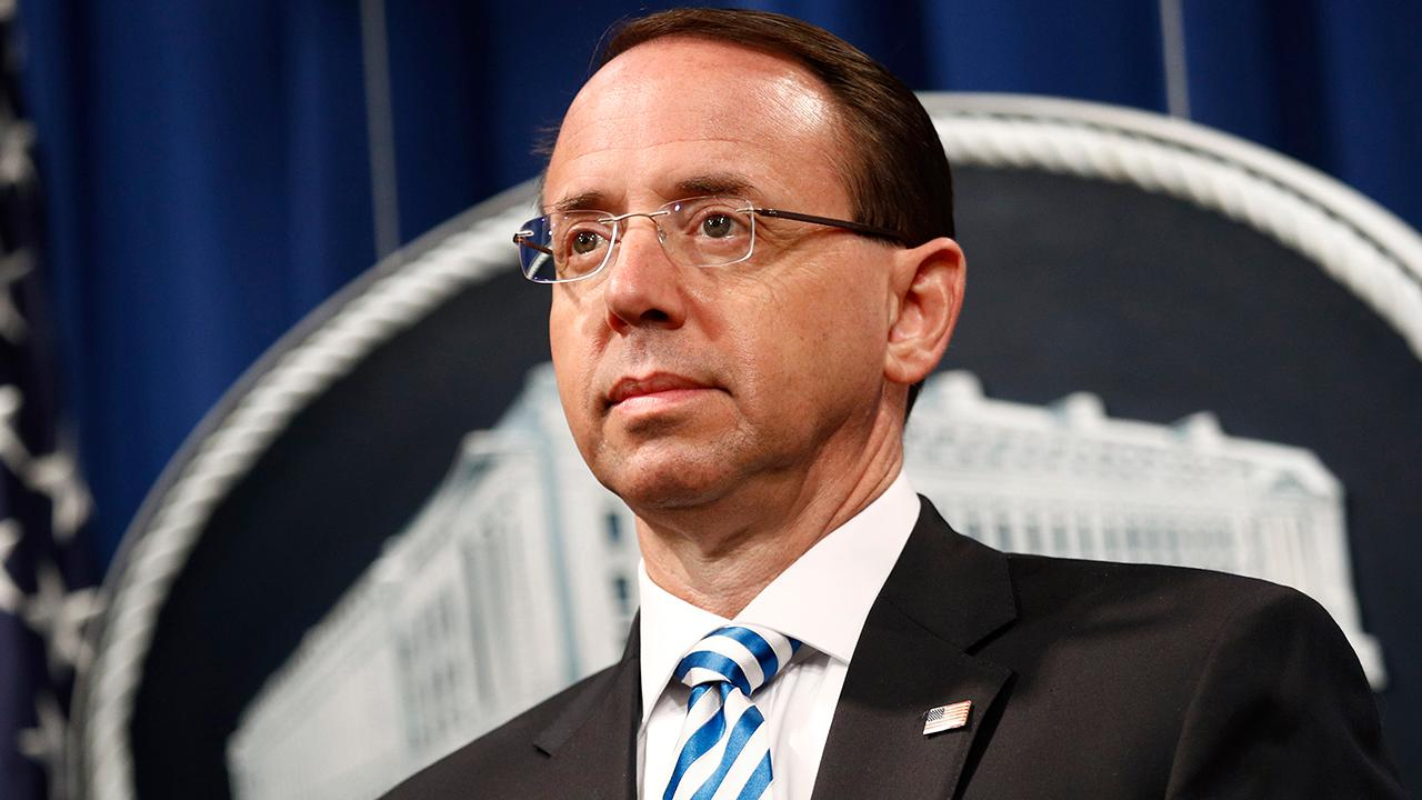Rod Rosenstein criticizes the Obama administration for their handling of the Russia investigation