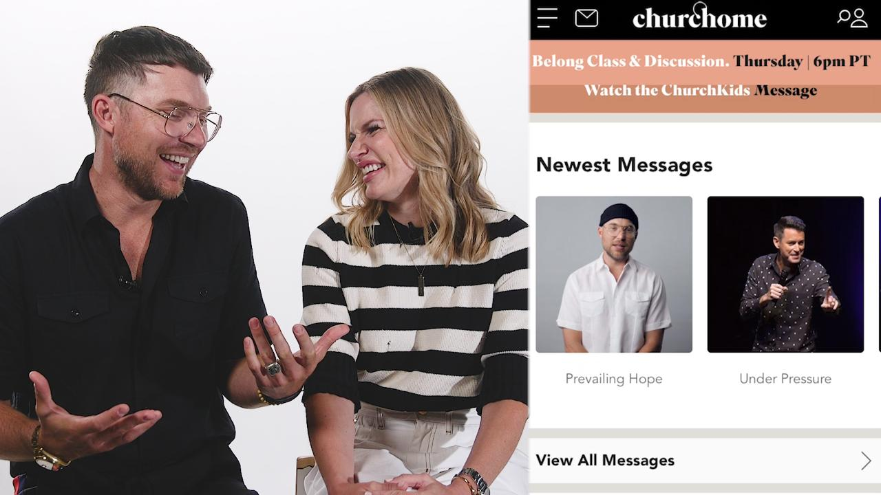 Celebrity pastors Judah and Chelsea Smith want to bring church to your phone with a new app
