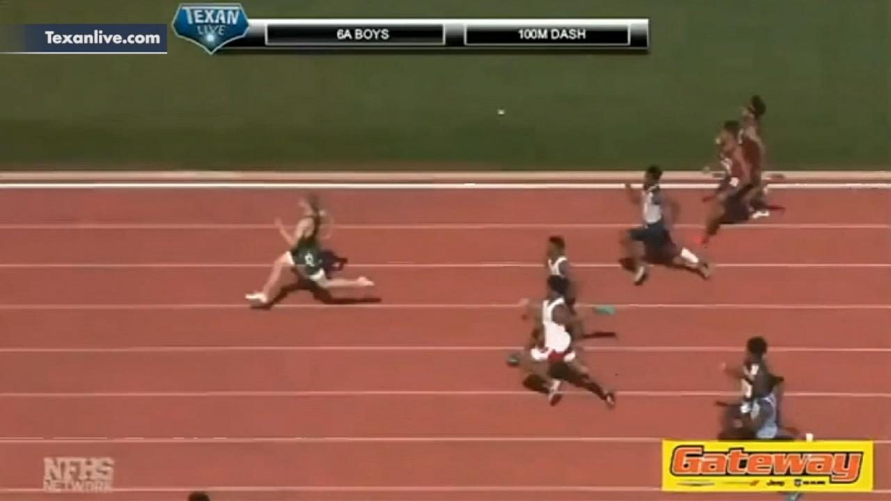 High school sprinter blows past the competition running a 9.98 in the 100-meter dash