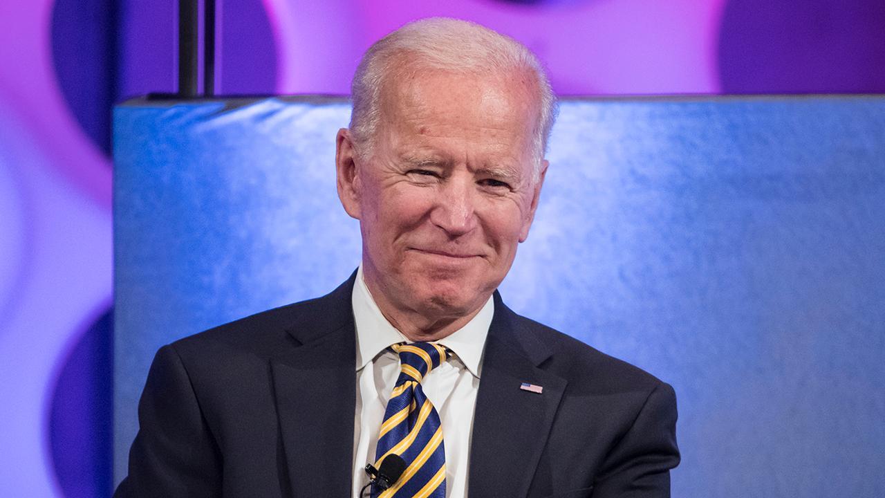 Former Vice President Biden makes a campaign stop in Dubuque, Iowa