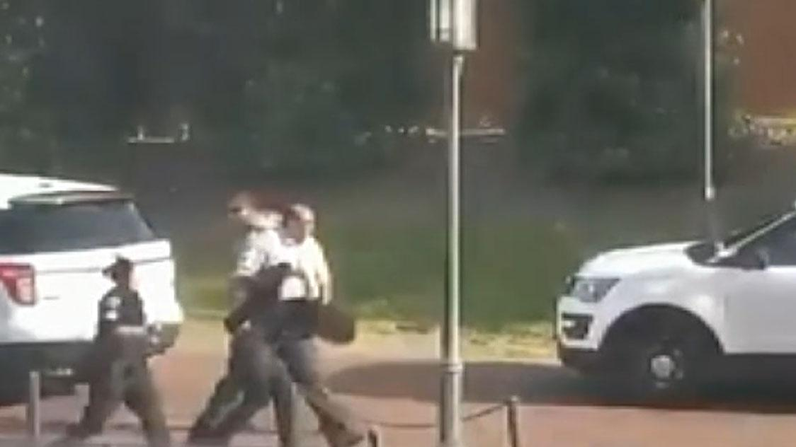 Raw video: shooter apprehended at UNC Charlotte
