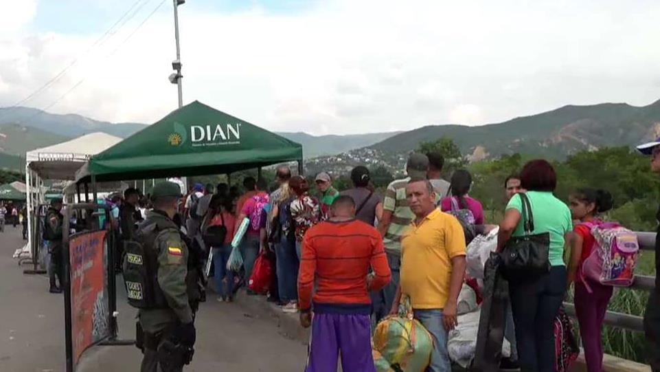Shots heard near Venezuela-Colombia border