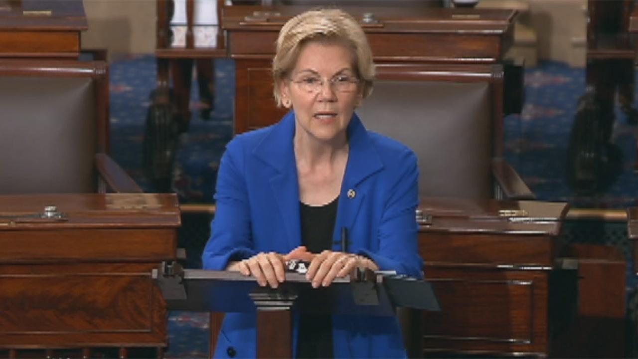 Westlake Legal Group 694940094001_6033890537001_6033888414001-vs Elizabeth Warren challenges Biden on abortion, says Trump should be 'in handcuffs' fox-news/topic/fox-news-flash fox-news/politics/2020-presidential-election fox-news/person/elizabeth-warren fox-news/entertainment/media fox news fnc/politics fnc Brie Stimson article 784e59e8-c894-51d8-b547-ed982fe17674
