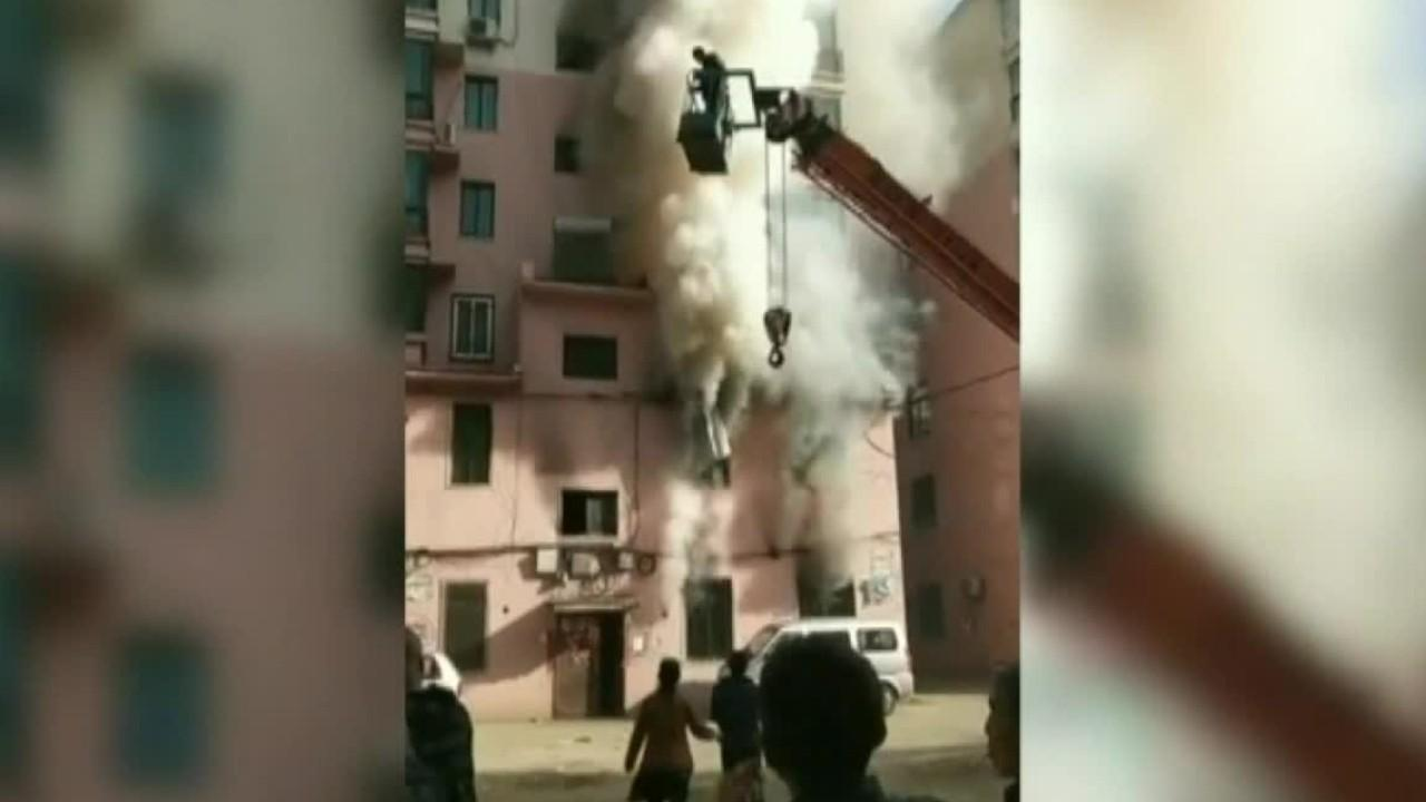 Westlake Legal Group 694940094001_6034213380001_6034207613001-vs Crane operator rescues 14 people from burning building in China Lucia Suarez Sang fox-news/world/world-regions/china fox-news/world/world-regions/asia fox-news/world/disasters/fires fox-news/us/military/heroism fox-news/good-news fox news fnc/world fnc article aa461138-a45f-54c5-ad5a-47a26f68fcea