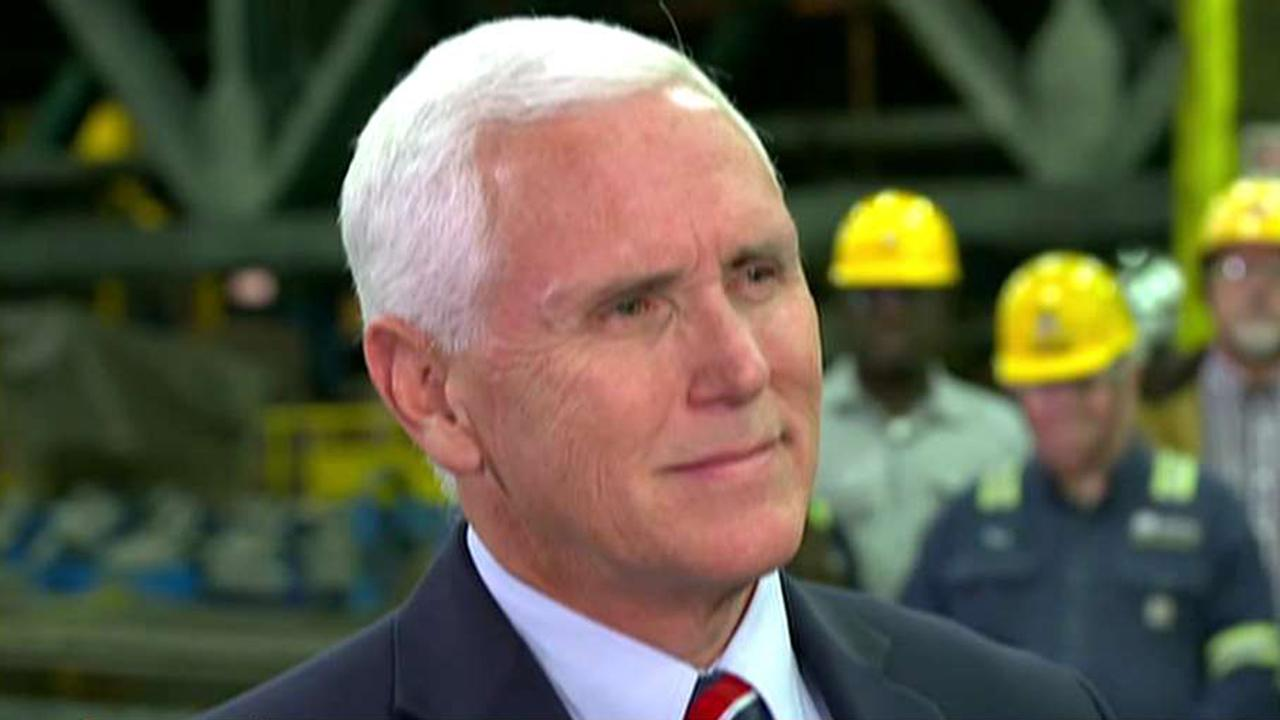 Westlake Legal Group 694940094001_6035104990001_6035114005001-vs VP Mike Pence urges Democrats to 'dial down the rhetoric on Capitol Hill' Vandana Rambaran fox-news/world/world-regions/china fox-news/world/conflicts/north-korea fox-news/us/us-regions/midwest/minnesota fox-news/topic/fox-news-flash fox-news/politics fox-news/person/william-barr fox-news/person/mike-pence fox-news/person/ilhan-omar fox-news/person/donald-trump fox news fnc/politics fnc article 0665720f-5f69-58a6-9c1f-b2bd17d2e578