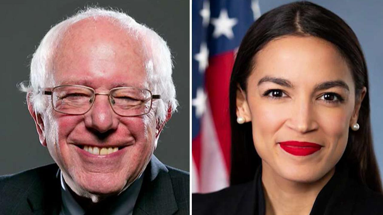 Rep. Alexandria Ocasio-Cortez and Sen. Bernie Sanders put big banks on notice