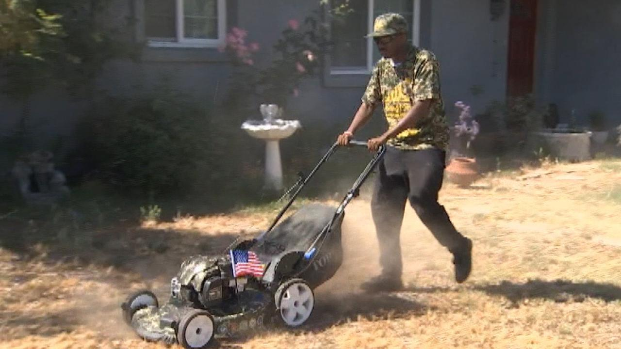 Alabama man says thank you to veterans by mowing their lawns for free