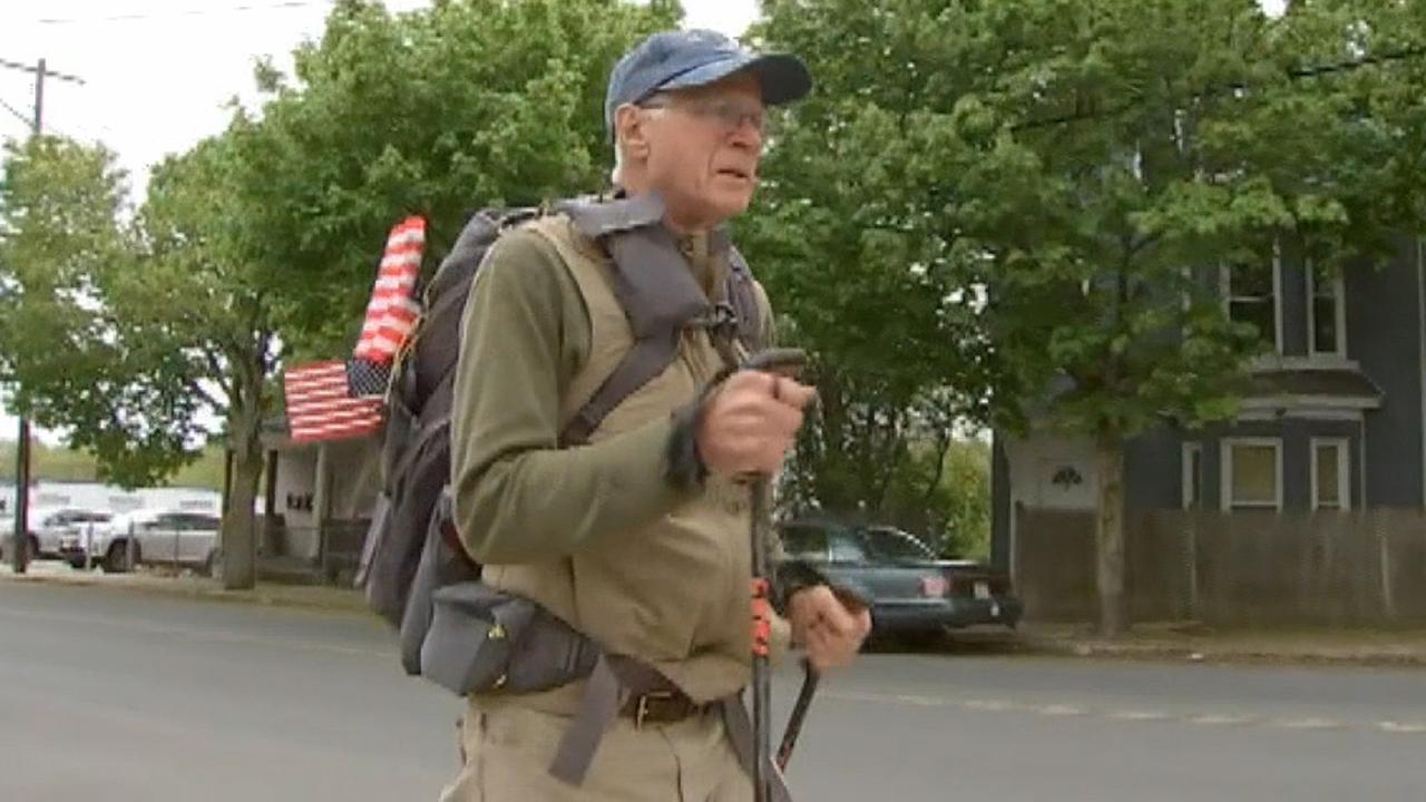 Westlake Legal Group 694940094001_6037654811001_6037659324001-vs Massachusetts veteran, 72, embarks on cross-country walk to support other vets Lucia Suarez Sang fox-news/us/us-regions/west/california fox-news/us/us-regions/northeast/massachusetts fox-news/us/personal-freedoms/proud-american fox-news/us/military/veterans fox-news/us/military/air-force fox news fnc/us fnc article 07cff378-b824-57b3-893e-8e696cb79bf9