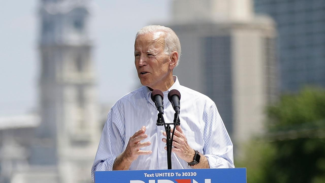 Joe Biden pushes unity at first 2020 election rally