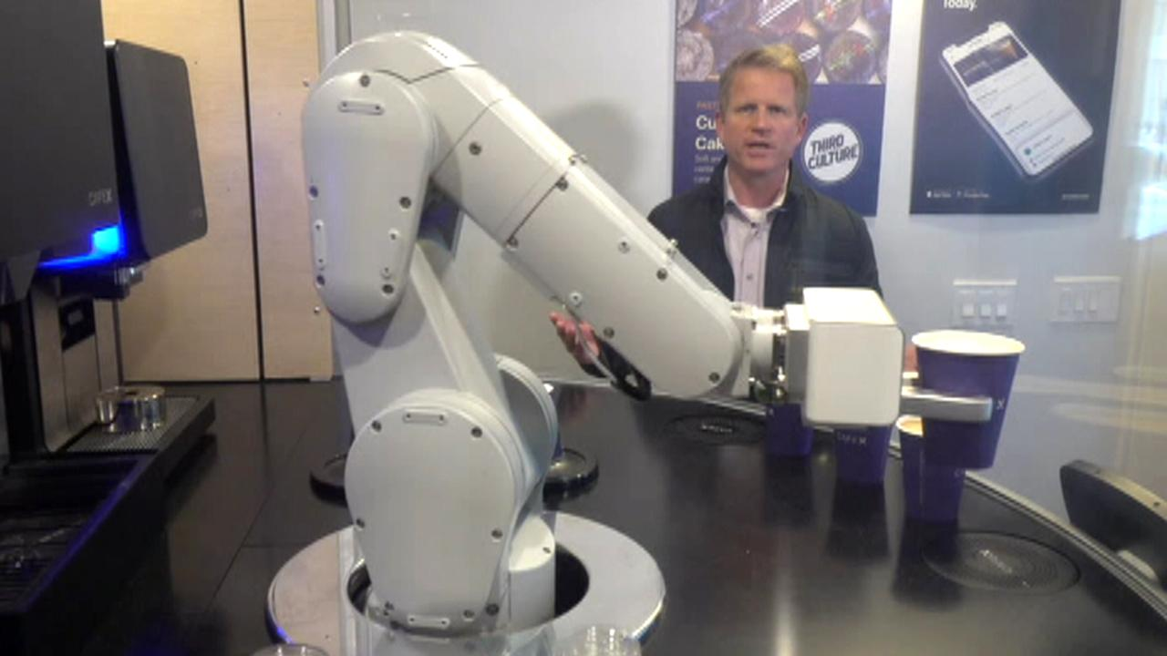 Robot barista debuts in San Francisco's first machine-operated coffee shop