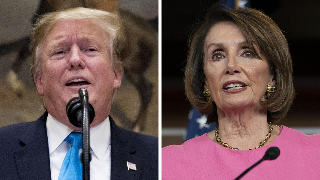 President Trump blasts Nancy Pelosi's account of White House meeting