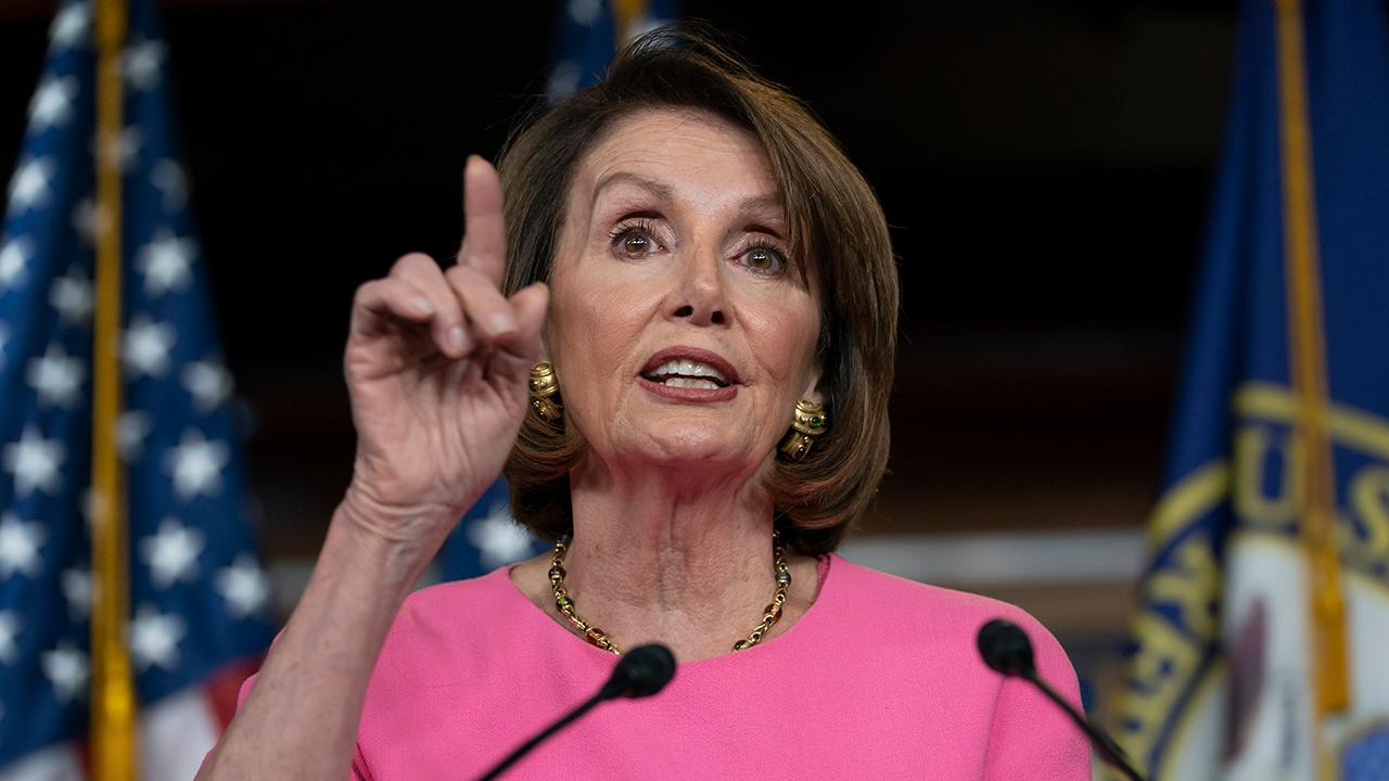 Nancy Pelosi says she is praying for President Trump, that he needs an intervention