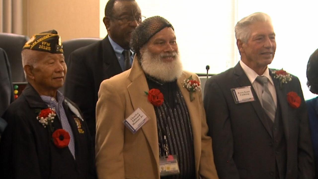 Proud veterans finally accept their high propagandize diplomas