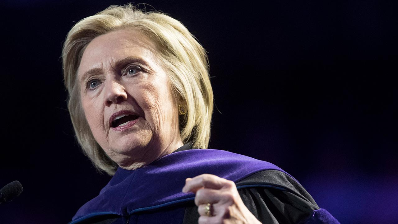 Hillary Clinton rages against President Trump in commencement speech