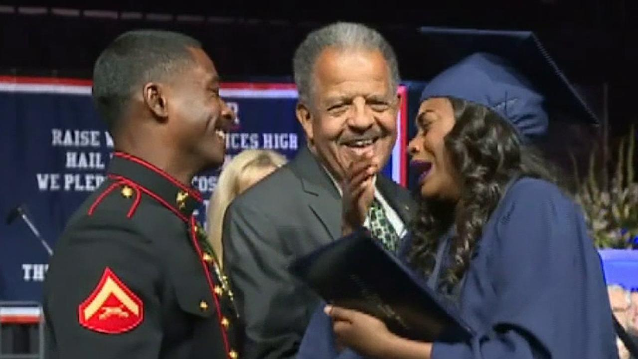 Westlake Legal Group 694940094001_6042935197001_6042940667001-vs California teen's Marine brother surprises her on stage at graduation Vandana Rambaran fox-news/us/personal-freedoms/proud-american fox-news/us/military/marines fox-news/us fox-news/tech/topics/us-marines fox news fnc/us fnc fbe86f4b-a205-5fc4-b689-19a923a94c17 article