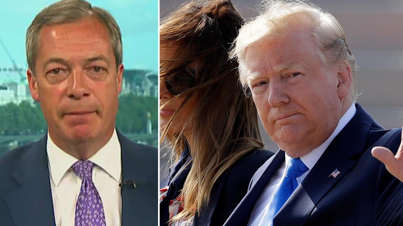 President Trump arrives in the UK for historic visit