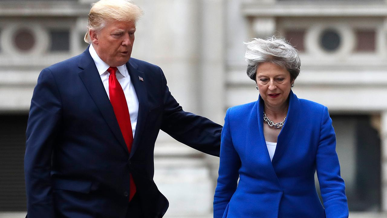 Trump, May tout 'special relationship' during joint news conference in UK