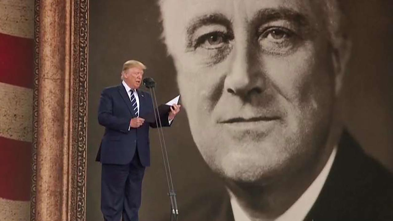 President Trump reads FDR's prayer from D-Day