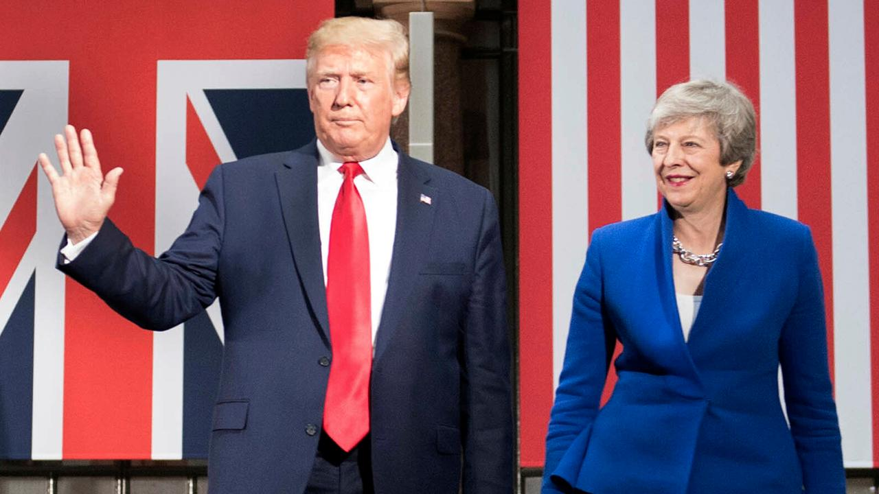 Media coverage of President Trump's UK visit