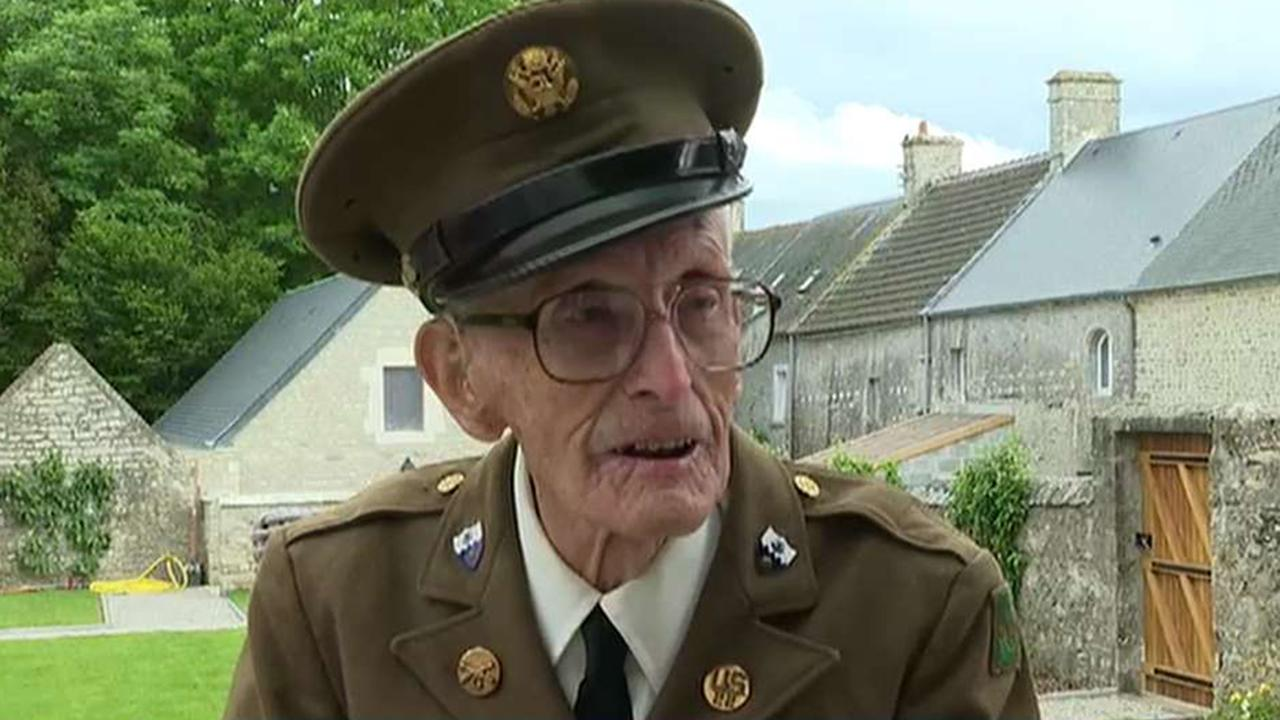 Around 60 American veterans attend the 75th D-Day commemoration ceremony in Normandy, France