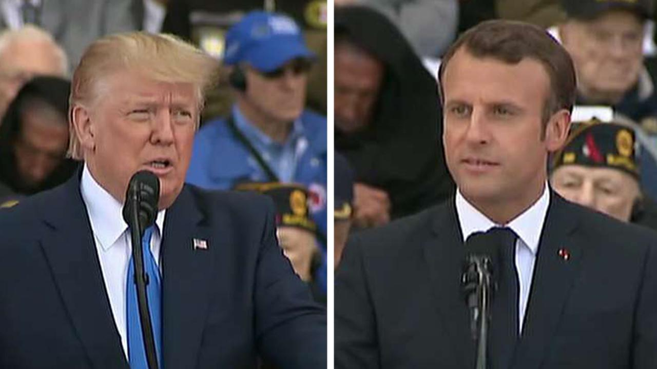 President Trump, French President Macron deliver moving D-Day speeches