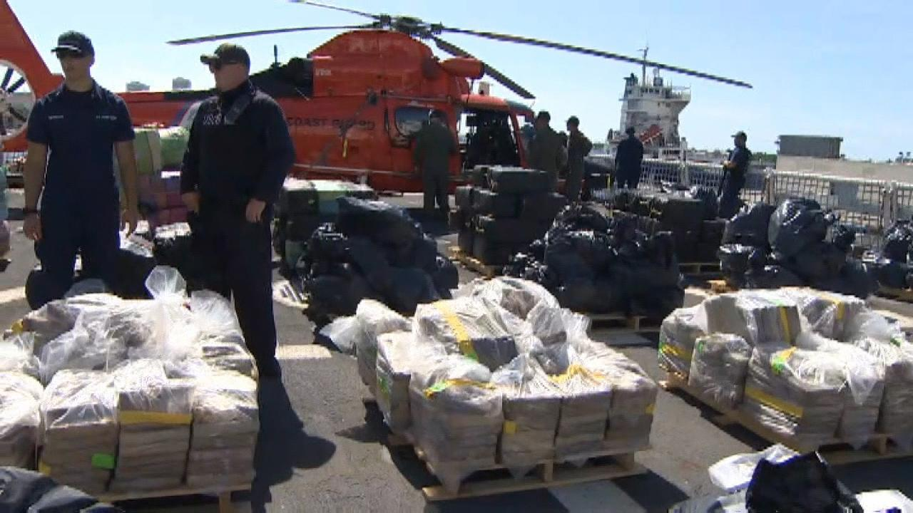 Coast Guard cutter offloads 26,000 pounds of cocaine and more than 1,400 pounds of marijuana